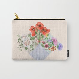 Floral Blocks Carry-All Pouch