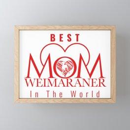 WEIMARANER MOM Framed Mini Art Print