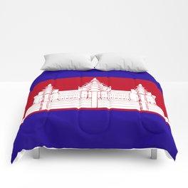 Cambodia flag emblem Comforters