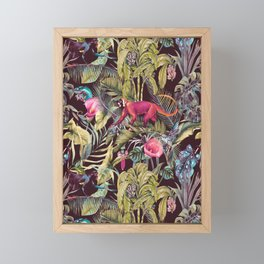 Fantasy in the nocturnal tropical jungle Framed Mini Art Print