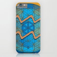 Flower of Life AQUARIUS Astrology Design Slim Case iPhone 6s
