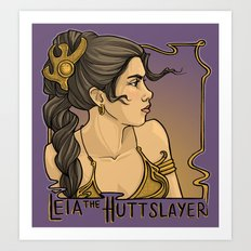 HuttSlayer Art Print