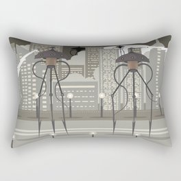 science fiction alien giant tripod Rectangular Pillow