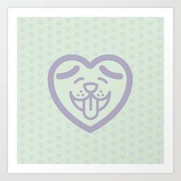 Puppy Love (Purple) Art Print