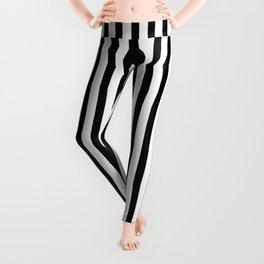 Black & White Small Vertical Stripes - Mix & Match with Simplicity of Life Leggings