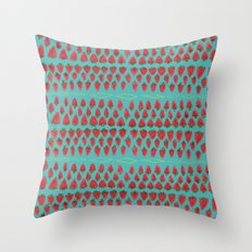 Field of Strawberries Throw Pillow