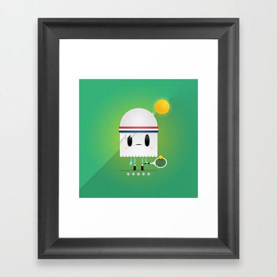 Match Point Framed Art Print