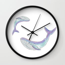 Magical mom and baby whale Wall Clock