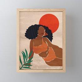 Red Sun Framed Mini Art Print