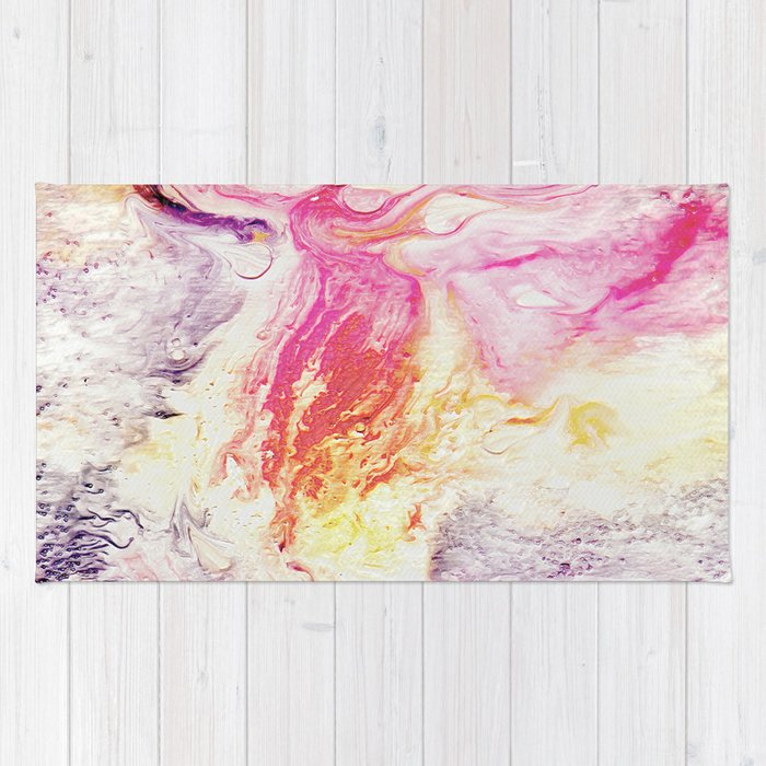 Deluge On Fire Rug