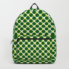 Dots in Green Backpack