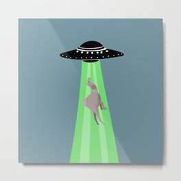 Aliens abduction camel Metal Print