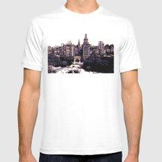 Funkytown - New York City White MEDIUM Mens Fitted Tee