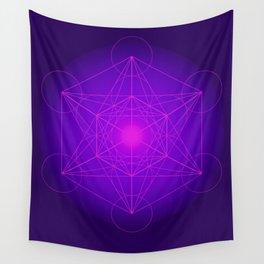 Metatron | Cube | Secret Geometry | Platonic | Matrix | Protects children Wall Tapestry