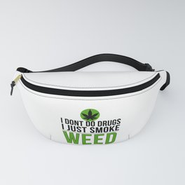 Smoke Weed | Cannabis leaf pot head gift Fanny Pack