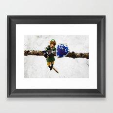 legend of zelda link snow figma Framed Art Print