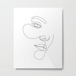 s'14 - single line drawing Metal Print