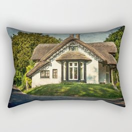 A  Thatched Cottage At Sulham Rectangular Pillow