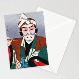 kawase hasui - Matsumoto Koshiro As Sekibe - Digital Remastered Edition Stationery Cards