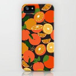 Oranges on black iPhone Case