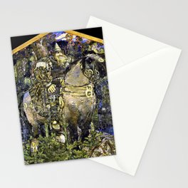 Mikhail Vrubel - Bogatyr - Digital Remastered Edition Stationery Cards