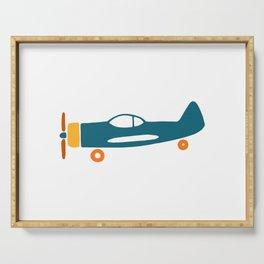 Retro plane illustration Serving Tray