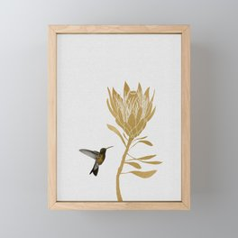 Hummingbird & Flower I Framed Mini Art Print