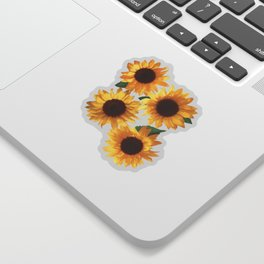 Happy Yellow Sunflowers Sticker