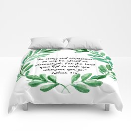 Be Strong and Courageous Joshua 1:9   Christian Art Comforters