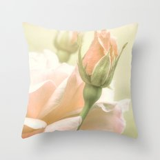 Gentle Roses Throw Pillow