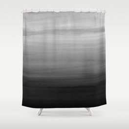 Touching Black Gray White Watercolor Abstract #1 #painting #decor #art #society6 Shower Curtain