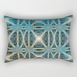 Turquoise Weave Rectangular Pillow