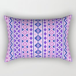Aztec Essence Pattern II Pinks Blue Purple Rectangular Pillow