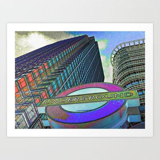 Canary Wharf  Art Art Print