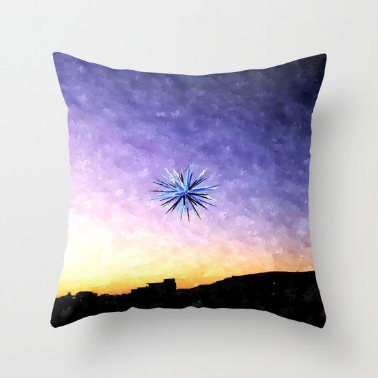 Guiding Star Watercolour Throw Pillow