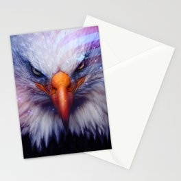 American Flag & Eagle Stationery Cards