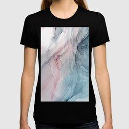 Calming Pastel Flow- Blush, grey and blue T-shirt
