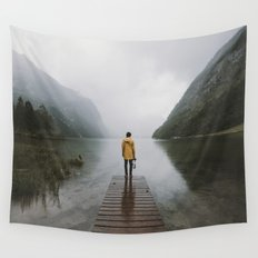 Mountain Lake Vibes - Landscape Photography Wall Tapestry