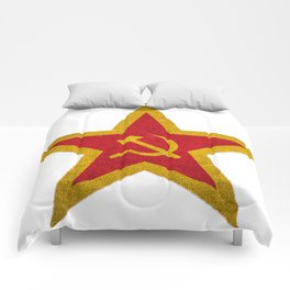 Russian Soviet CCCP Red Star Flag Comforters