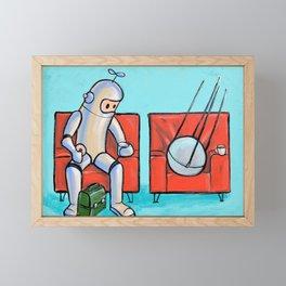 Date with Sputnik Framed Mini Art Print