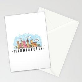 Minneapolis, Minnesota, City landscape Stationery Cards