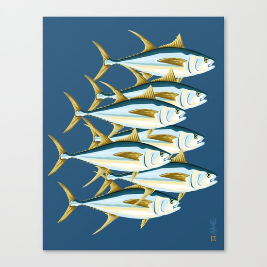 School of Tuna, fish Canvas Print