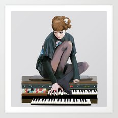 See you on a dark night - Visions - portrait of musician Grimes Art Print