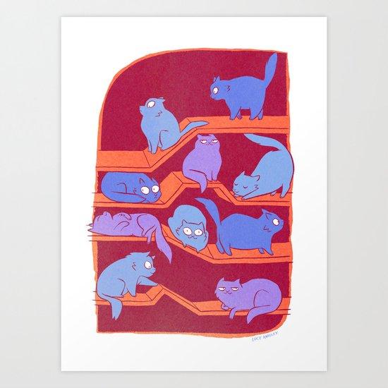 Cat Path Art Print