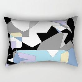 Neutral Blues Shapes Rectangular Pillow