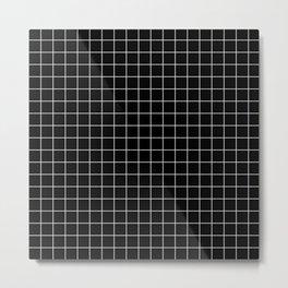 Square Grid Black Metal Print