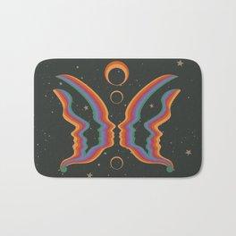 Rainbow Butterfly People Bath Mat