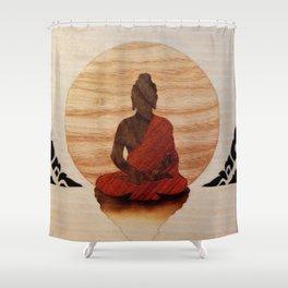Buddha marquetry Shower Curtain
