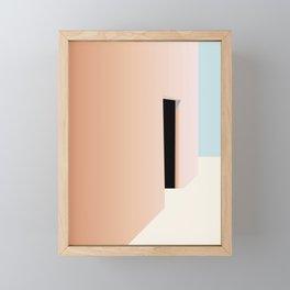 Hidden door at moroccan house Framed Mini Art Print