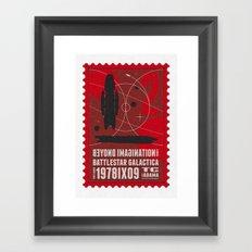 Beyond imagination: Battlestar Galactica postage stamp  Framed Art Print